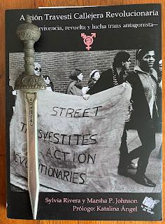 Portada del libro Acción Travesti Callejera Revolucionaria, de Sylvia Rivera y Marsha P. Johnson