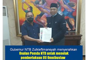 Tak Takut Dicopot, Pemprov NTB Tegaskan Menolak Pemberlakuan UU Omnibus Law