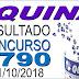 Resultado da Quina concurso 4790 (01/10/2018)