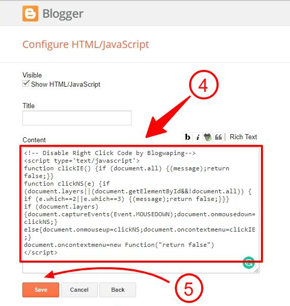 Configure HTML/Javascript