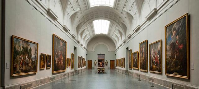 Interior Museu do Prado em Madri