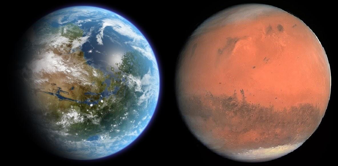 Woda na Marsie mogła zostać uwięziona pod powierzchnią