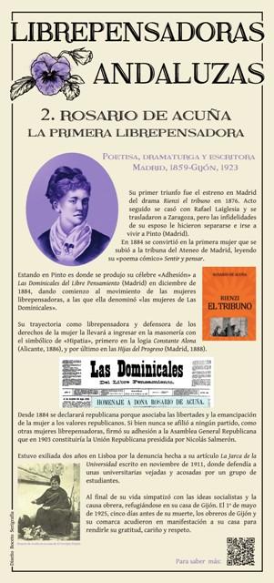 FPanel dedicado a Rosario de Acuña (Imagen cedida por Manuel Almisas Albéndiz)