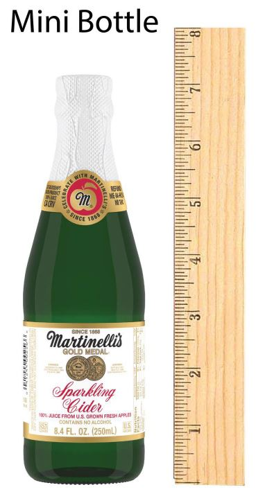 Only Certain Lots Of The 8 4 Oz Bottles Typically Known In Trade As Mini Martinelli S Gold Medal Sparkling Cider