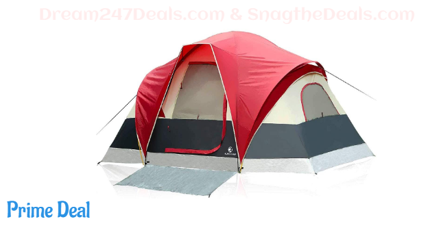 30% OFF ALPHA CAMP 6 Person Tent Extended Dome Tent