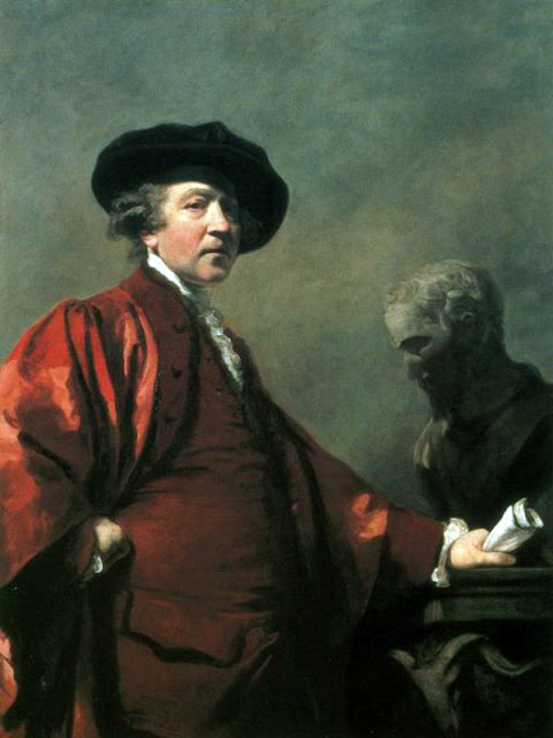 Joshua Reynolds, Self Portrait, Portraits of Painters, Fine arts, Painter Joshua Reynolds