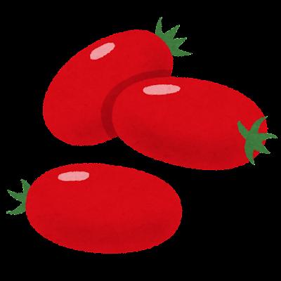 細長いミニトマトのイラスト