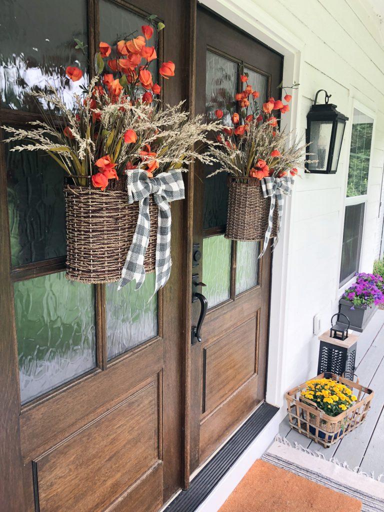 Natural Wood Farmhouse Front Door