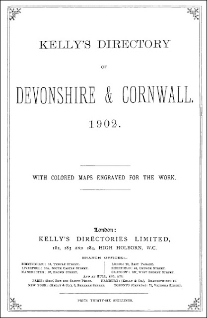 Kelly's Directory of Devon & Cornwall - Part 1: Devon