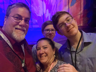 David Brodosi and family traveling aboard cruise ship.