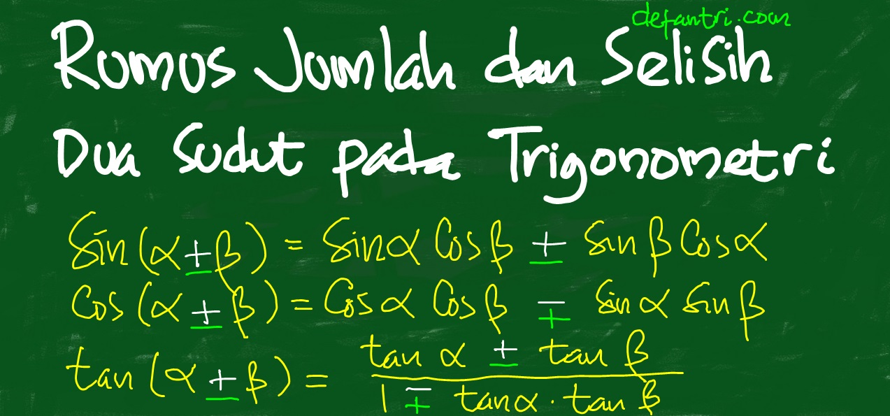 Trigonometri: Cara Sederhana Membuktikan Rumus Jumlah dan Selisih Dua Sudut