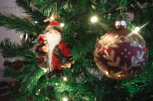 Christmas Santa decoration close up
