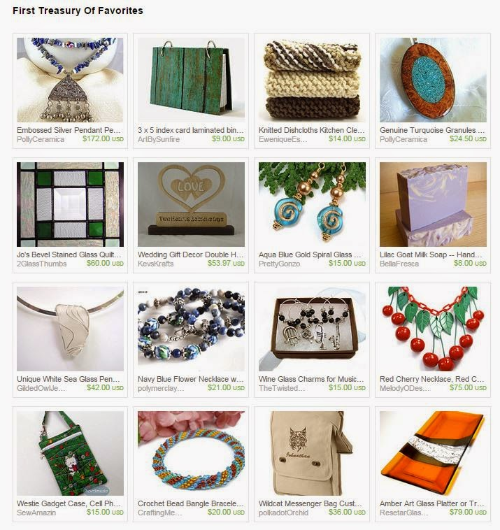 First Treasury of Favorites by Cards by LiBe on Etsy