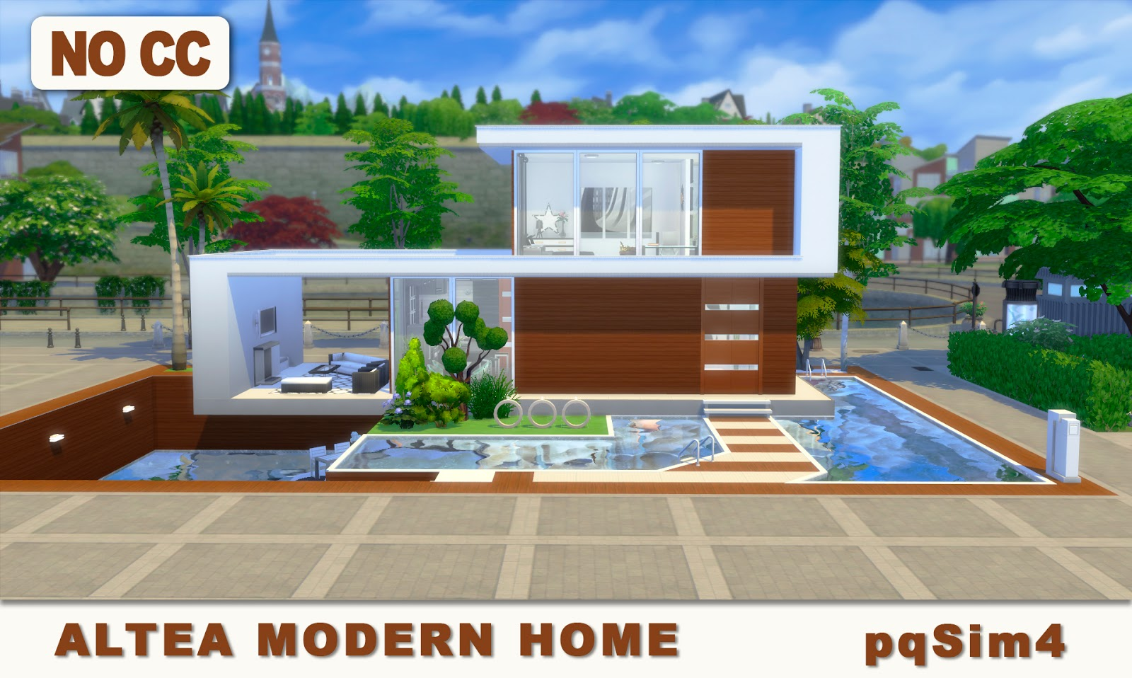 Altea Modern Home. Sims 4 Speed Build and Download.