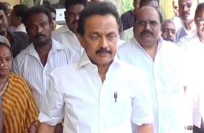M K Stalin Pay Last Respect To Veteran director and producer Muktha Srinivasan