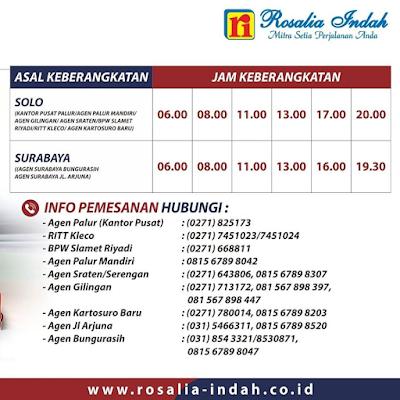 Bus Rosalia Indah Jadwal Harga Tiket Maret 2021 Asuransi Perjalanan