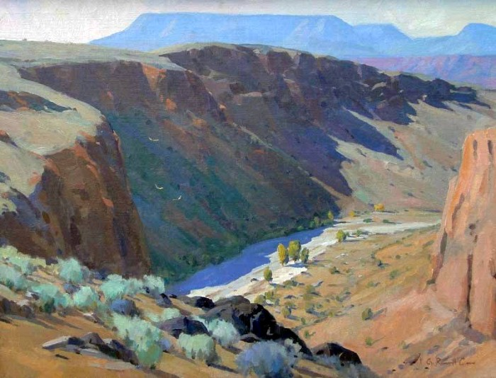 Горные пейзажи. G. Russell Case 11