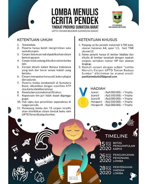Lomba Menulis Cerpen   Tema Bebas   Tingkat Provinsi Sumatera Barat
