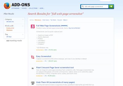 Cara Screenshot Menggunakan Add-Ons atau Extension pada Browser