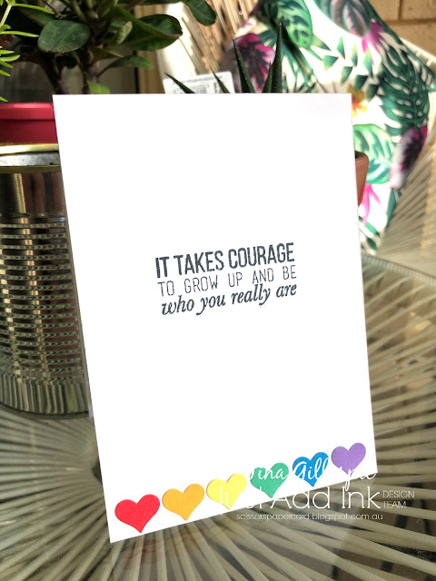 scissorspapercard, Stampin' Up!, Kindred Stamps, The Ink Road, Full Of Pride, Love Wins, Stampin' Blends, Copics, Rectangle Stitched Dies