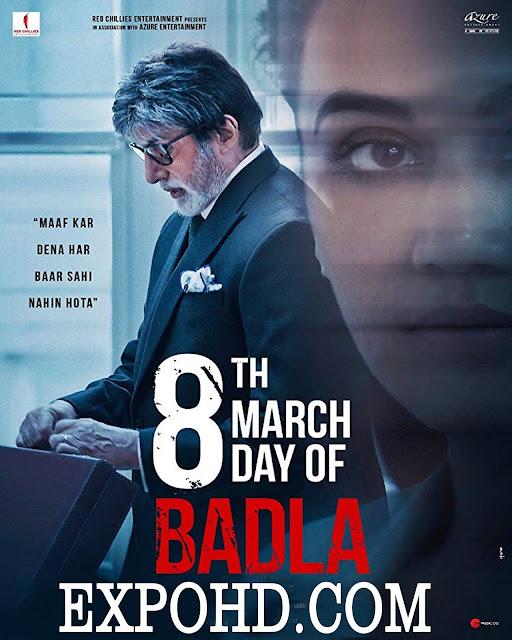 Badla  2019 WEB-HD 1080p  480p x264| DD5.1| ESubs| 2.5Gb| 1Gb| 400Mb | Watch Online |