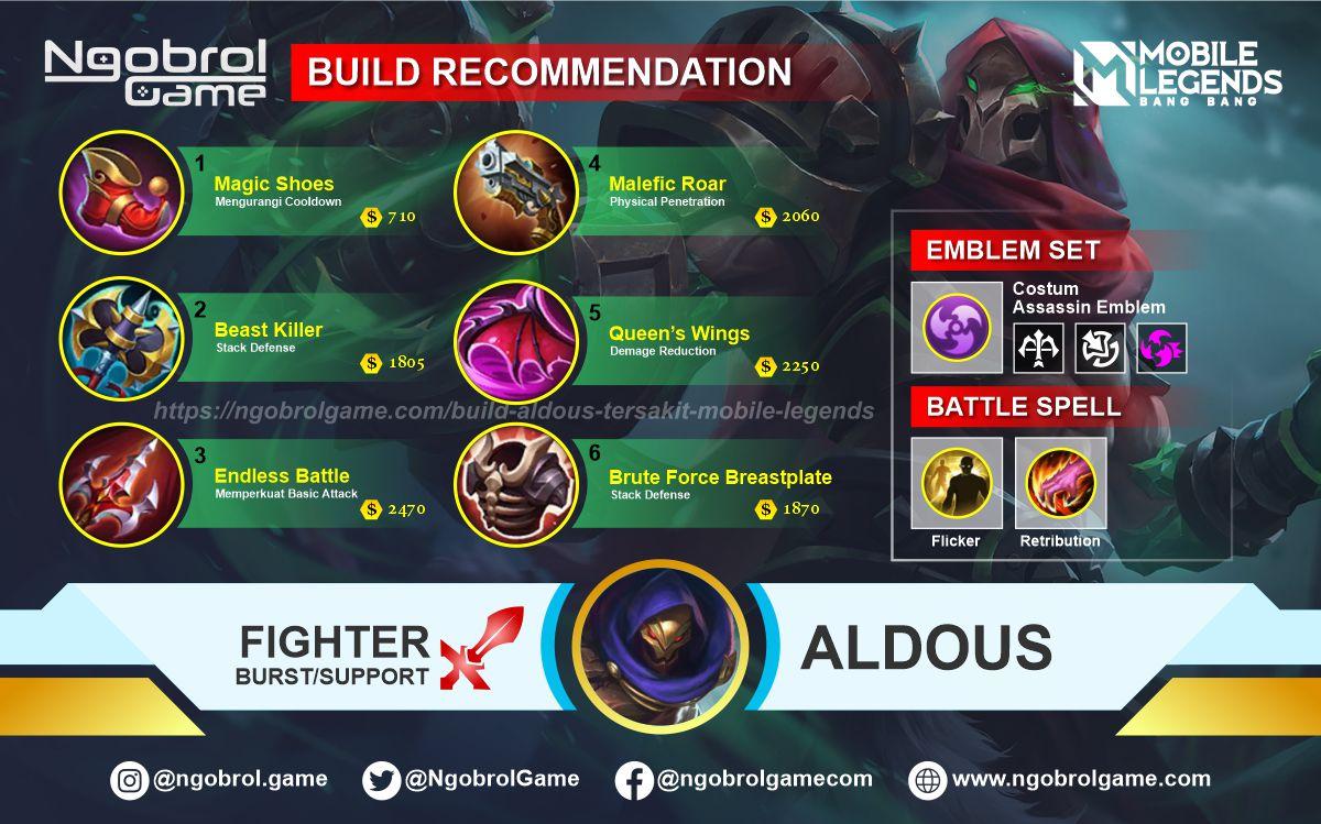 Build Aldous Savage Mobile Legends
