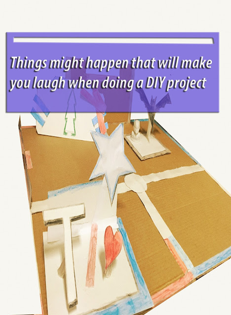 Things might happen that will make you laugh when doing a DIY project