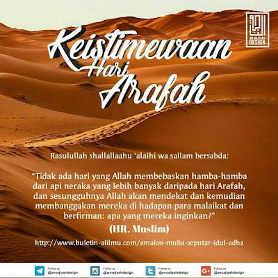 Keistimewaan Hari Arafah