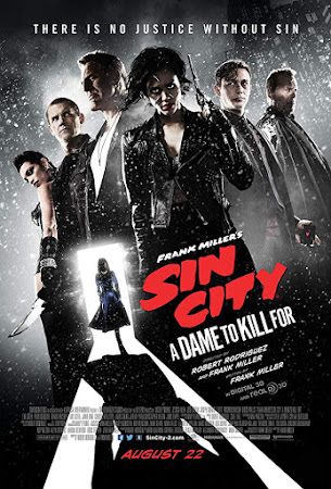 Poster Of Sin City: A Dame to Kill For In Dual Audio Hindi English 300MB Compressed Small Size Pc Movie Free Download Only At worldfree4u.com