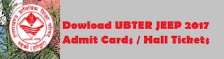 UBTER JEEP 2017 Hall Tickets / Roll Numbers