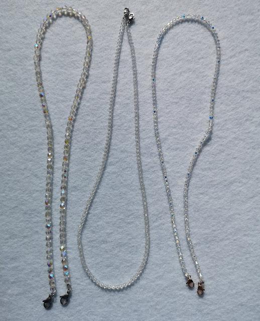 Catenine di cristallo con moschettoni in acciaio