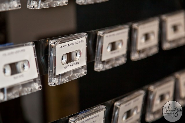 cassette tape place cards