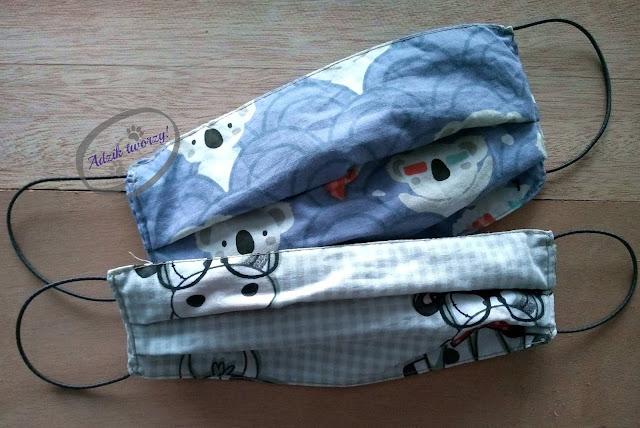 Adzik tworzy - wielorazowe maski ochronne DIY z bawełny