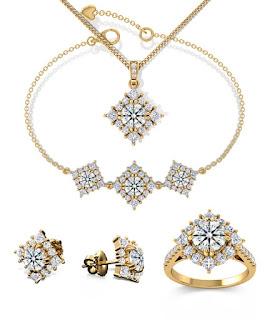 Trang sức cưới kim cương kết hợp với vàng