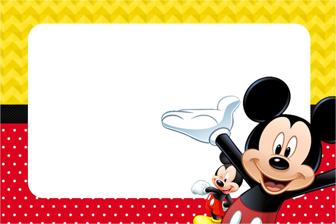 Modelo De Convite Mickey Editável Download Grátis Modelo