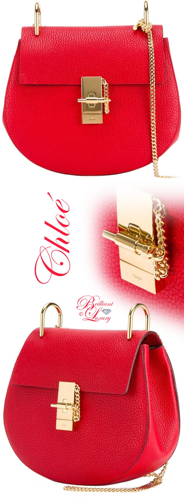 Brilliant Luxury ♦ Chloé Small Drew Grained Leather Shoulder Bag