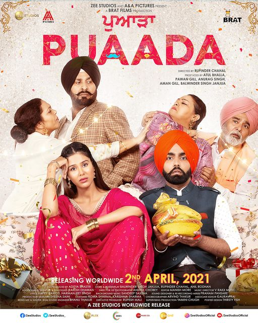 full cast and crew of Punjabi Film Puaada 2020 wiki, movie story, release date, movie Actress name poster, trailer, Photos, Wallapper
