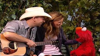 celebrity, Sugarland and Elmo sing songs, Sesame Street Episode 4316 Finishing the Splat season 43