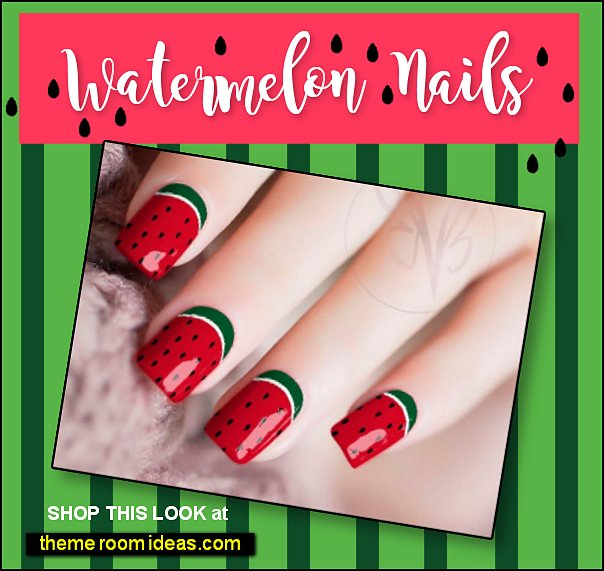 Watermelon Nail Wraps Watermelon Nails
