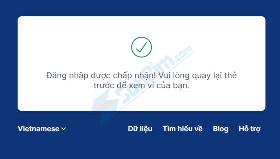 Cách đăng nhập vào ví Blockchain - 5