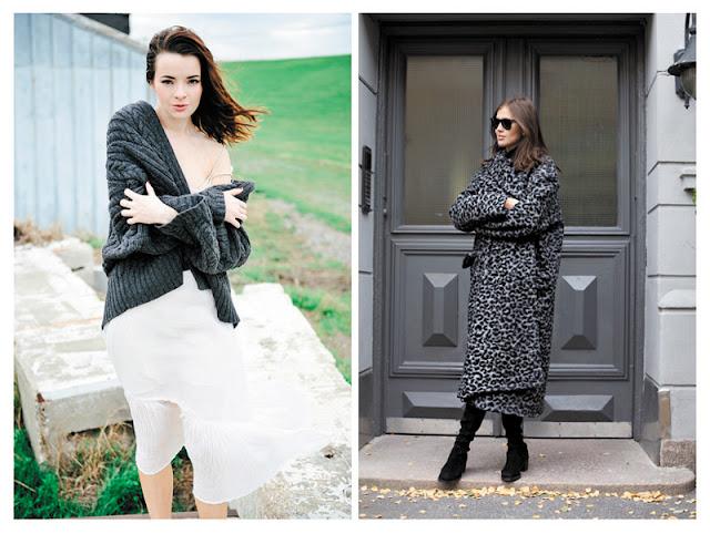 Образы с кардиганом и пальто оверсайз с подиума