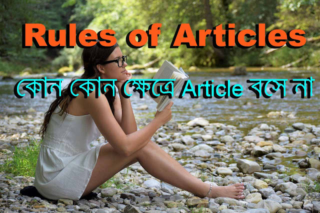 Rules of articles-কোন কোন ক্ষেত্রে Article বসে না, Importance of articles in english grammar