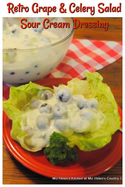 Retro Grape and Celery Salad With Sour Cream Dressing