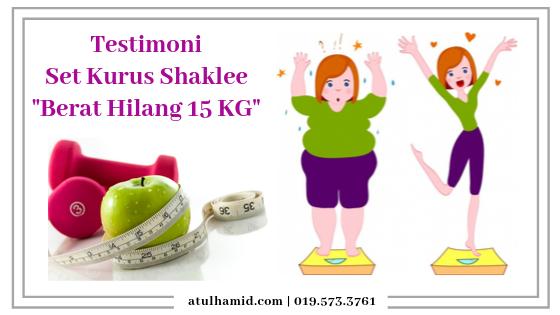 Testimoni Set Kurus Shaklee - Berat Hilang 15kg
