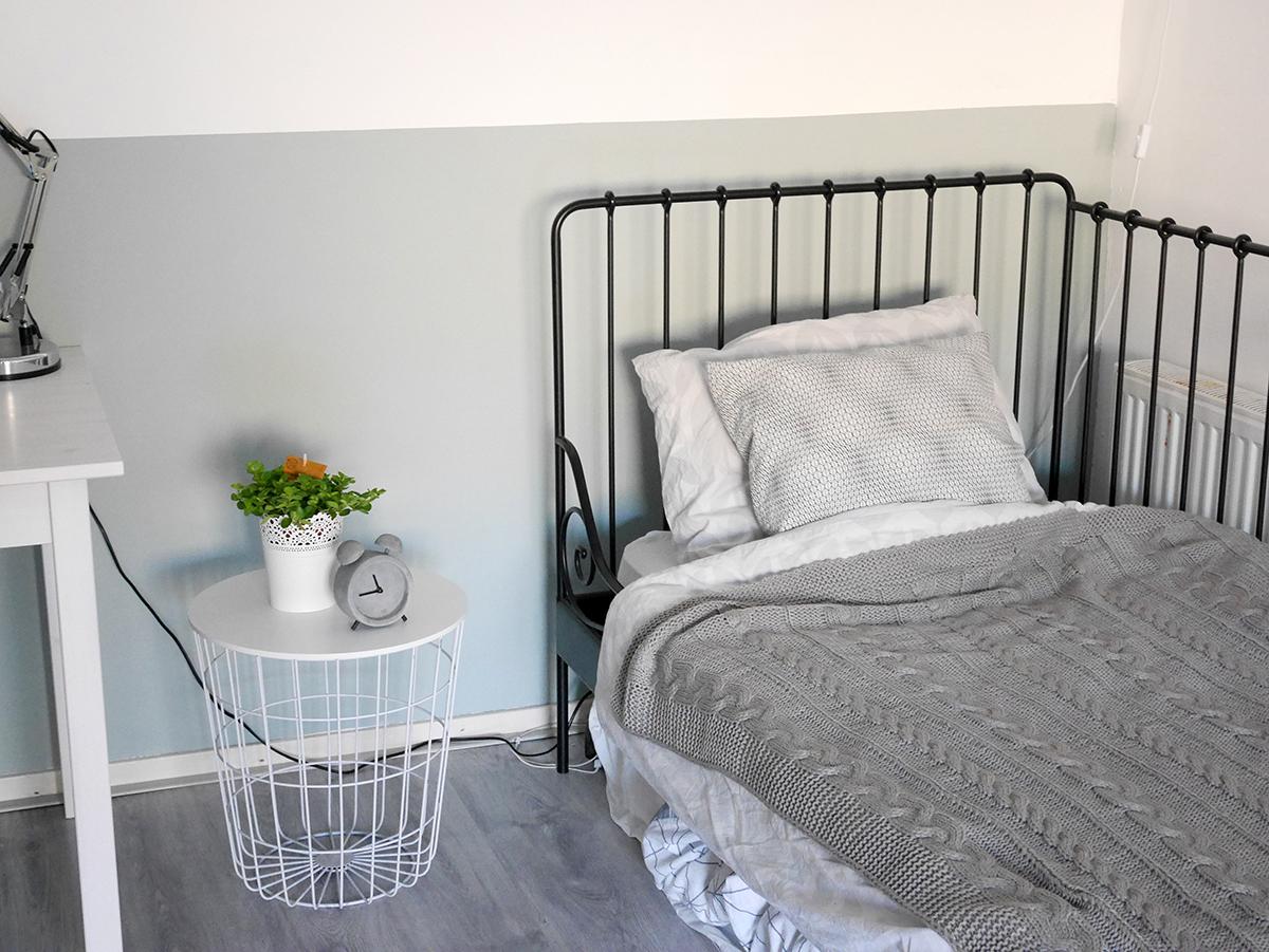 Mini room makeover: een nieuwe kleur op de muur! the budget life