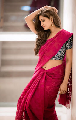 Actress Samyuktha Latest Hot Photos in Saree