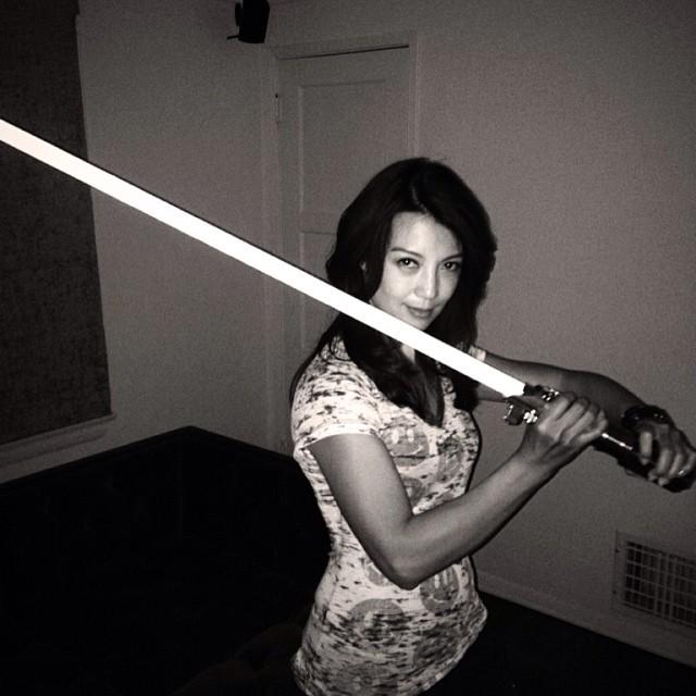 ming-na wen will light saber