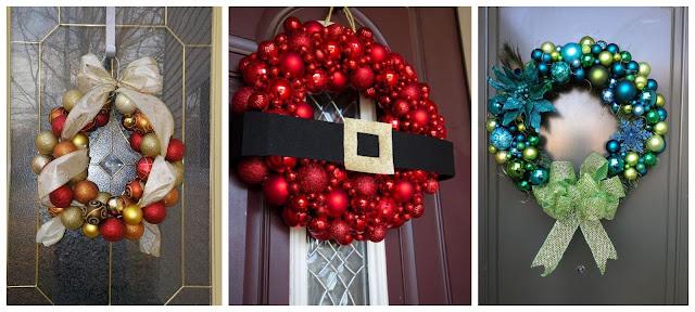 corona-navideña-con-esferas