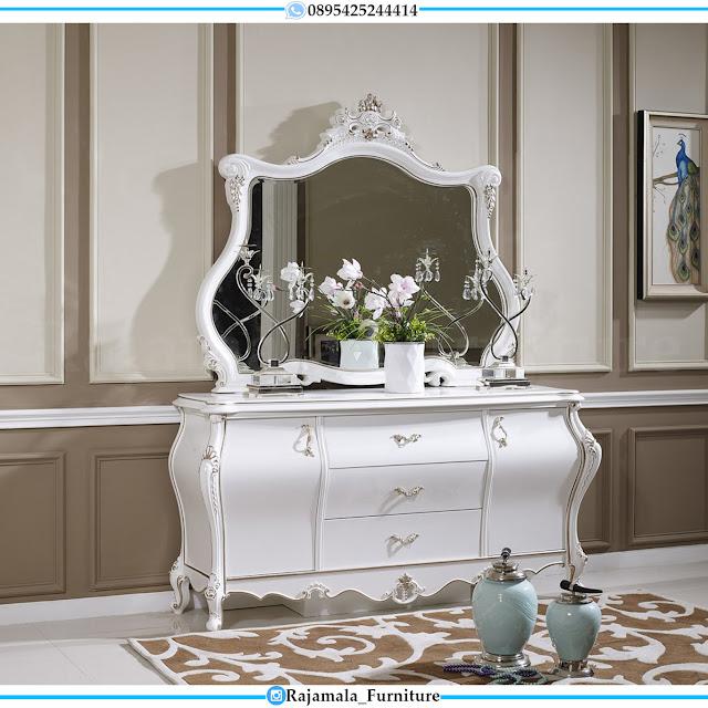 Jual Meja Konsul Putih Mewah Ukiran Classic Luxury Jepara RM-0411
