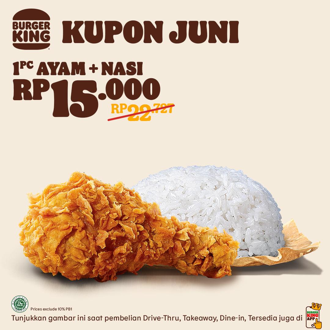 Kupon Promo Burger King Bulan Juni 2021